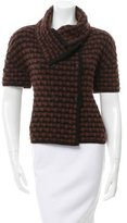 Piazza Sempione Wool & Silk-Blend Short Sleeve Cardigan
