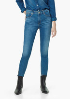 Mango Outlet Skinny Crop Tattoo Jeans