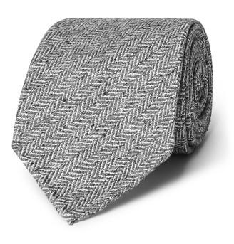 Drakes 8cm Herringbone Silk Tie