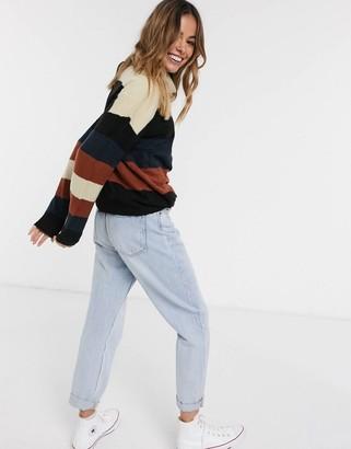 JDY Nora stripe roll neck sweater