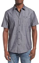 Hurley Men's 'Kahuku' Embroidered Short Sleeve Woven Shirt