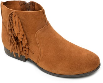 Minnetonka Leather Side Fringe Ankle Boots