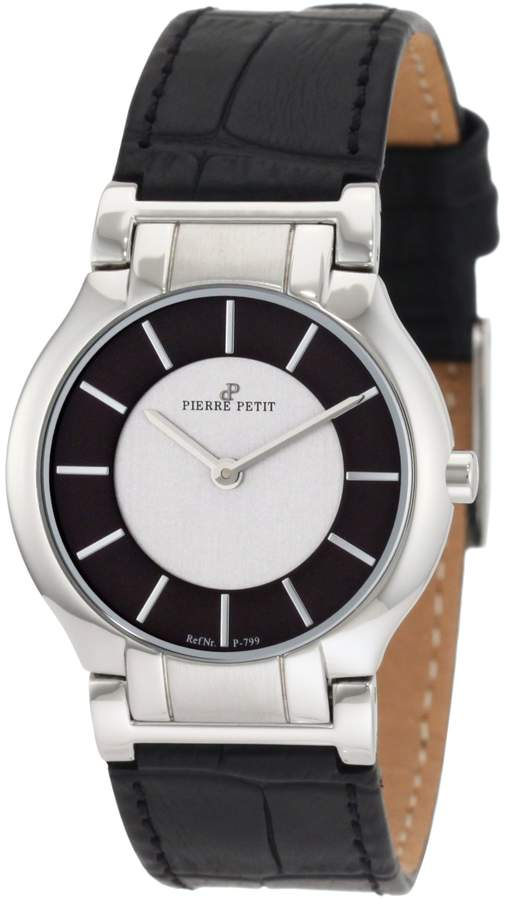 Pierre Petit Women's P-799A Serie Laval Black and Dial Genuine Leather Watch