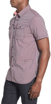 Howe Falcon Nest Checked Short Sleeve Trim Fit Shirt