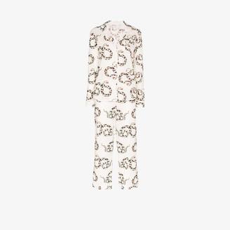 Desmond & Dempsey Snake print pyjama set