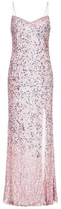Adrianna Papell Adrianna Beaded Mesh Dress Womens