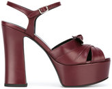 Saint Laurent Candy 80 bow sandals - women - Leather - 37.5
