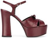 Saint Laurent Candy 80 bow sandals - women - Leather - 37
