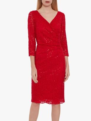 Gina Bacconi Belle Lace Wrap Dress