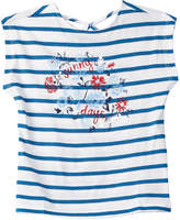 Nautica Girls' Sunny Days Blue Stripe Top