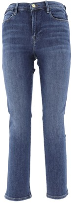 Frame Faded Effect Cropped Jeans