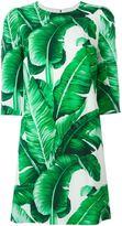 Dolce & Gabbana banana leaf print dress - women - Silk/Spandex/Elastane/Viscose - 36