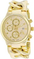 Jivago Lev Womens Gold-Tone Bracelet Watch