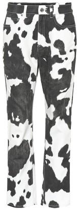 Burberry Printed high-rise straight-leg jeans