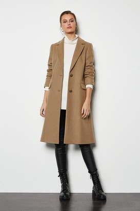 Tailored Wool Blend Coat