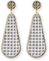 Jack Kelege & Company Teardrop Lace Design Earrings with Diamonds