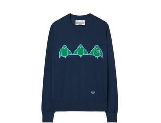 Tory Burch Performance Merino Birdie Sweater