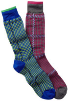 Jared Lang Pinwheel Crew Sock - Pack of 2
