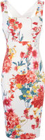 Karen Millen Floral-print Pencil Dress - White/mult