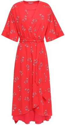 Joie Daymon B Floral-print Crepe De Chine Midi Wrap Dress