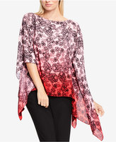Vince Camuto Printed Ombré Poncho
