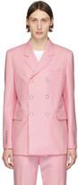 Burberry Pink Slim Tailored Blazer