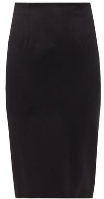 Alexander McQueen Wool-serge Pencil Skirt - Black
