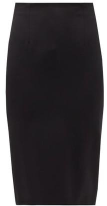 Alexander McQueen Wool-serge Pencil Skirt - Womens - Black