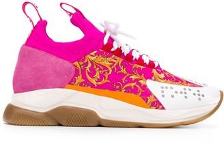 Versace Barocco print low-top sneakers