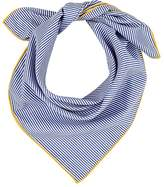 Barneys New York WOMEN'S PINSTRIPED COTTON BANDANA