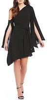 C/Meo Beyond Me One Shoulder Split Sleeve Shift Dress