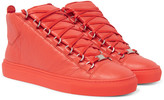 Balenciaga - Arena Creased-leather High-top Sneakers