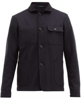 Altea Patch-pocketed Wool-blend Jacket - Mens - Navy