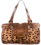 Roberto Cavalli Ponyhair Leopard print Shoulder Bag