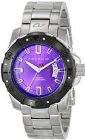 Android Men's AD683BKPU Pioneer Analog Display Automatic Self Wind Silver Watch