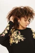Topshop Kimono Embroidered Tunic
