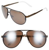 Carrera Men's Eyewear 65Mm Aviator Sunglasses - Light Gold/ Violet