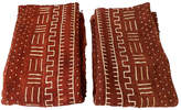 One Kings Lane Vintage Chocolate Brown Mud-Cloth Textiles Set of 2