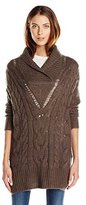 RD Style Women's V-Neck Cable-Knit Pullover Sweater