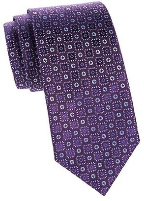 Charvet Neat Button Silk Tie