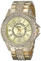 XOXO Women's XO5737 Analog Display Analog Quartz Gold Watch