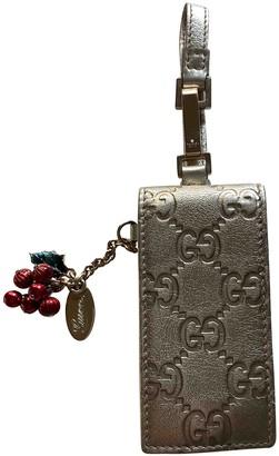 Gucci Silver Leather Accessories