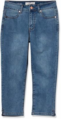 Lola Jeans Women's Plus Size High Rise Capri