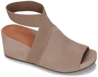 Gentle Souls By Kenneth Cole Gisele 65 Elastic Wedge Sandal