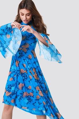 NA-KD Mesh Bell Sleeve Dress
