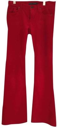 Ralph Lauren Red Cotton Trousers