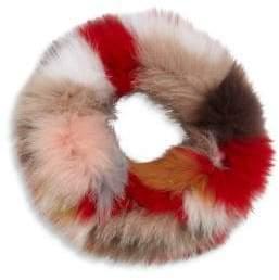 Surell Multicolor Fox Fur Cowl Scarf
