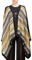 Balmain Striped Metallic Poncho