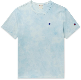 Champion Logo-Embroidered Tie-Dyed Cotton-Jersey T-Shirt