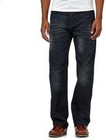 Mantaray Dark Blue Vintage Wash Loose Fit Jeans
